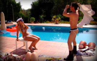 Male stripper Puerto Banus, private villa show