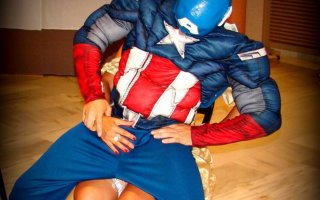 Captain America stripper outfit